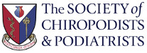 society of chiropodists and podiatrists logo